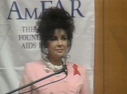 Elizabeth Taylor et sa lutte contre le sida