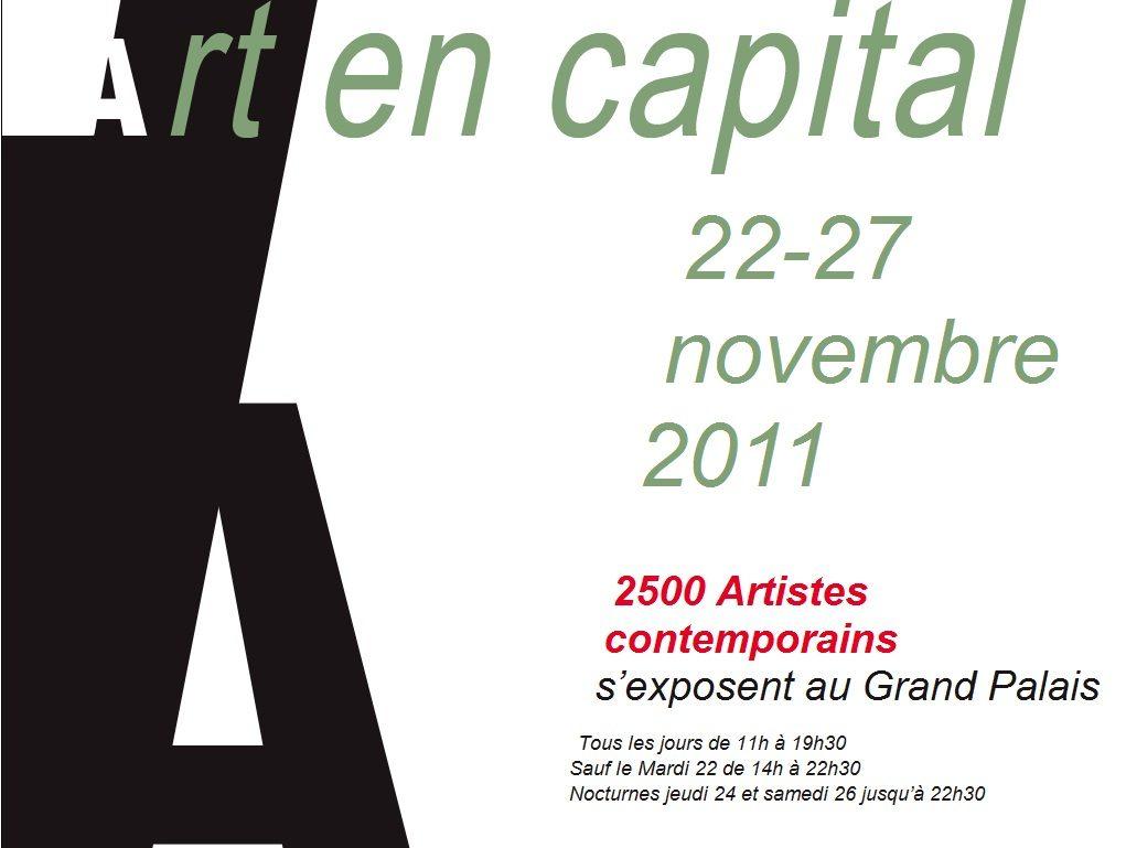 La 6e édition d'Art en Capital aura lieu du 22 au 27 novembre au Grand Palais