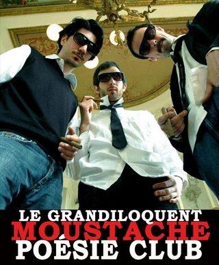 Le Grandiloquent Moustache Poésie Club revient à Paris!