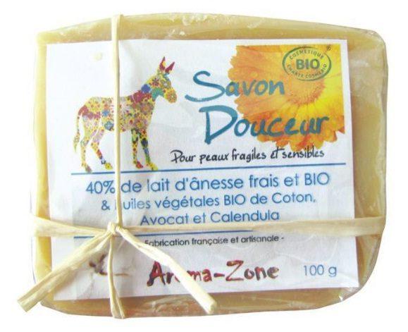 Savon artisanal «Douceur» au lait d'ânesse, Aroma Zone prend soin de nous