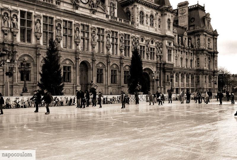 Patinoire de l'Hôtel de Ville, petit plaisir de saison