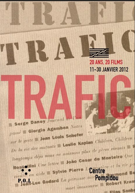 La revue Trafic fait son cinéma à Beaubourg