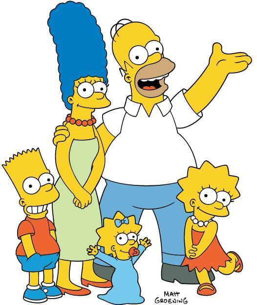 Все герои симпсонов на одной картинке