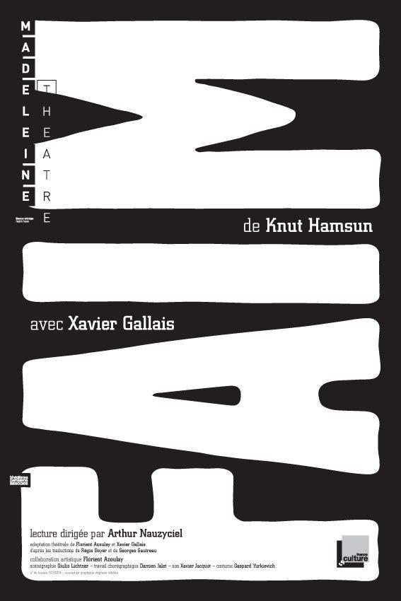 Xavier Gallais, errant solitaire dans Faim de Knut Hamsun