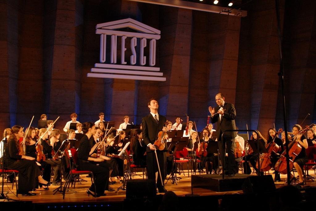 L'orchestre symphonique Thelma Yellin d'Israël à l'UNESCO le 8 février 2012