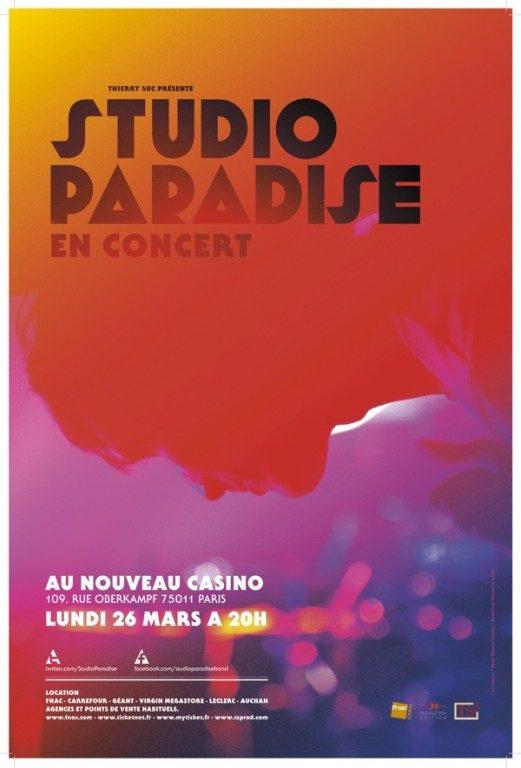 Studio Paradise au Nouveau Casino le 26 mars