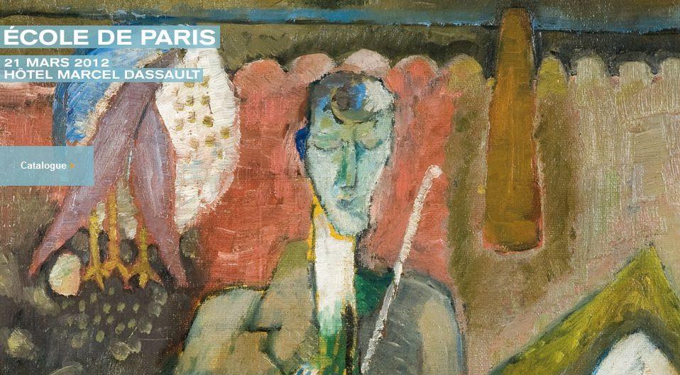 Vente de Peintres de l'Ecole de Paris le 21 mars chez Artcurial