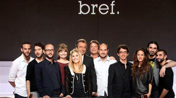 L'équipe de la série Bref en signature du dvd de la saison au Virgin des Champs-Elysées le 7 mars 2012