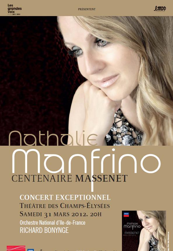 Gagnez 2 places pour le récital de Nathalie Manfrino au TCE le 31 mars 2012