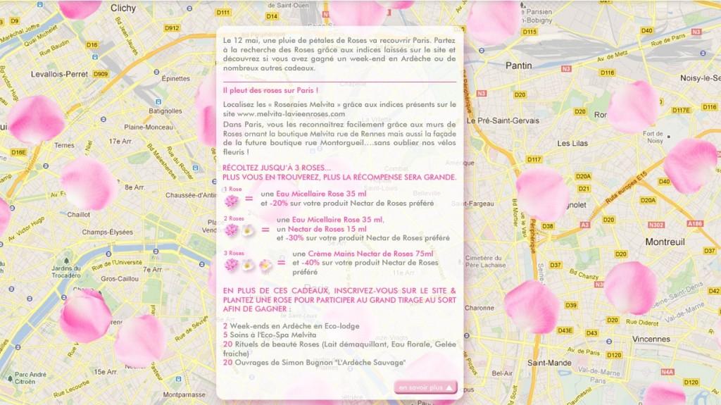 Melvita fait tomber une pluie de roses sur Paris