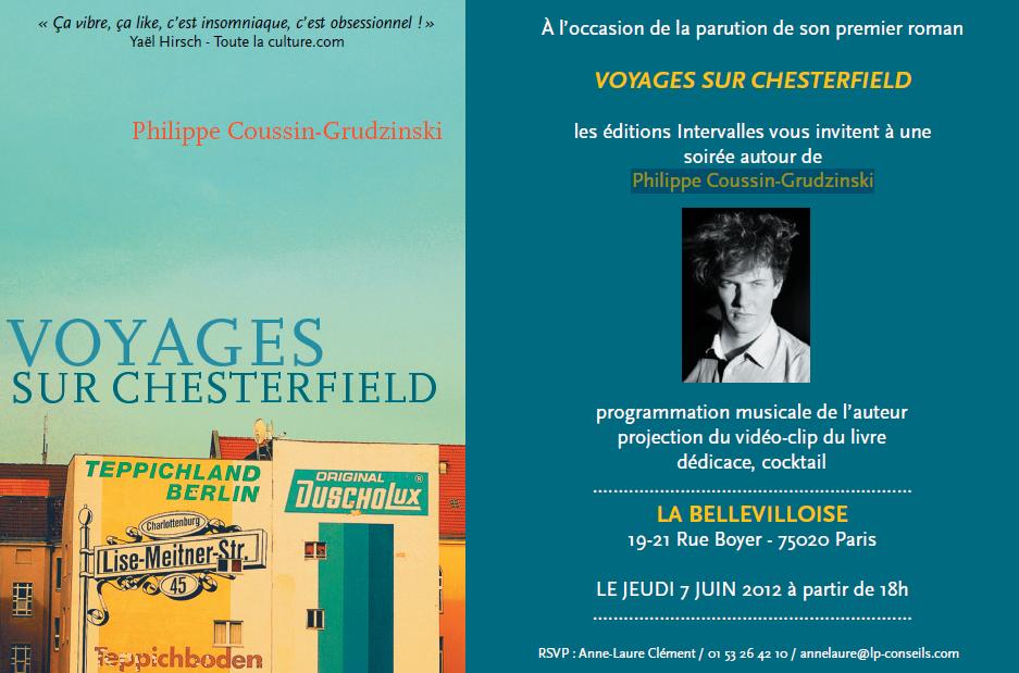 Dédicace : Philippe Coussin-Grudzinski signe son premier roman à la Bellevilloise, le 7 juin