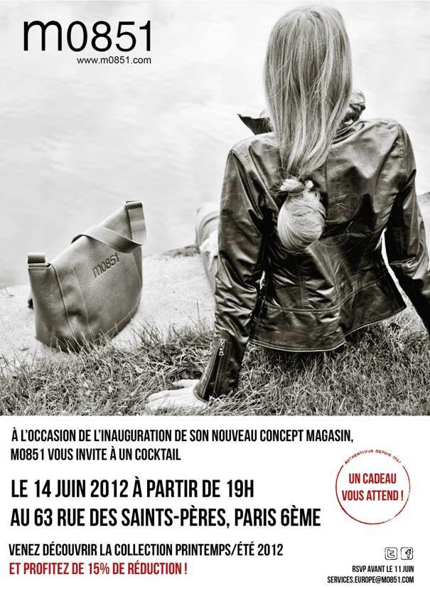 Ouverture du concept store du maroquinier m0851 à Paris