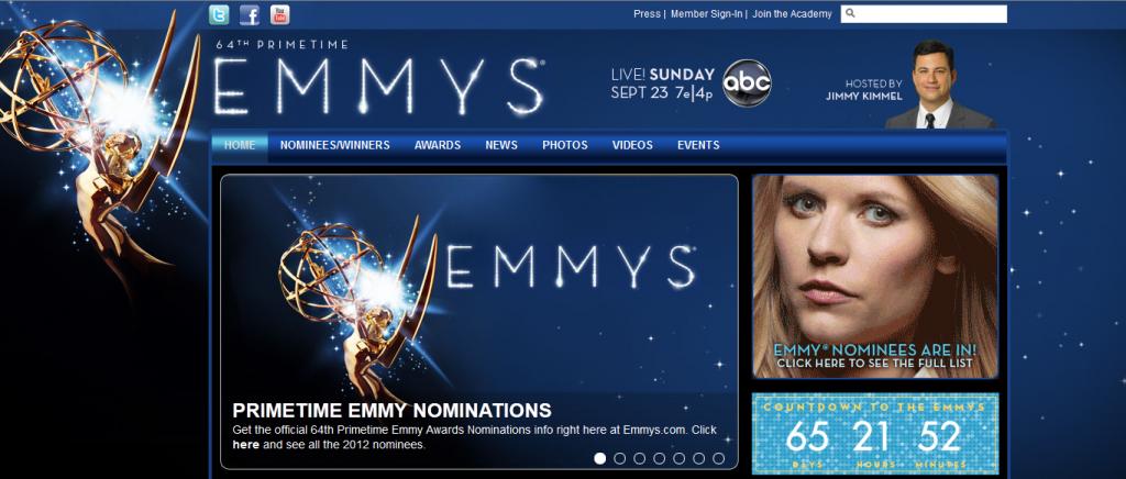 Emmy Awards 2012, les nominations