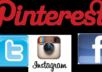 Logos Pinterest Twitter Instagram Facebook