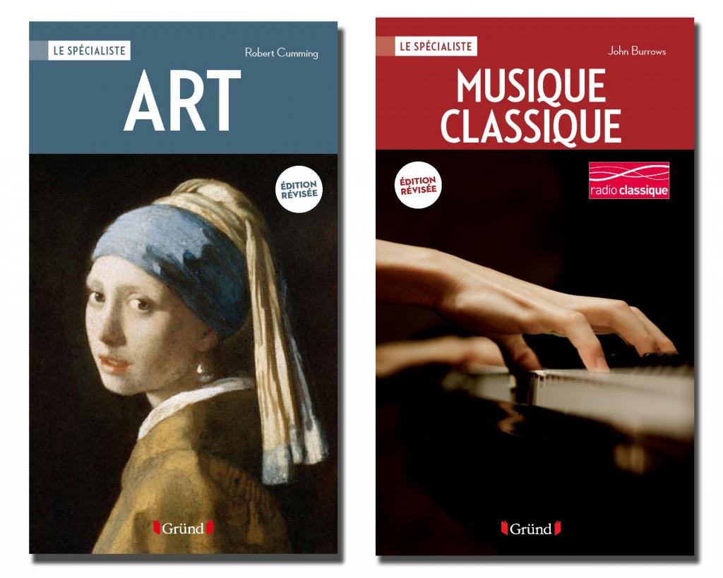 « Art » et « Musique classique » deux ouvrages encyclopédiques proposés par Gründ