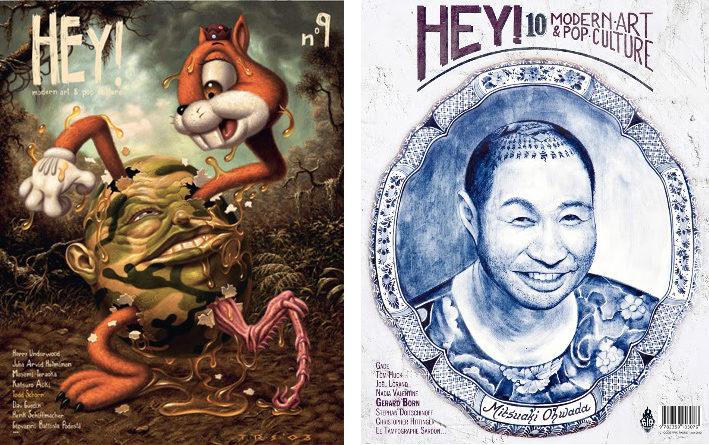 Les numéros #9 et #10 de la revue HEY! entre lowbrow et surréalisme pop