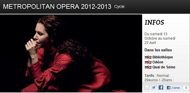 Le Metropolitan Opera s'invite au MK2