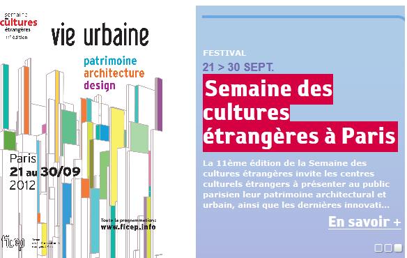 Semaine des cultures étrangères à Paris : 60 évènements du 21 au 30 septembre 2012