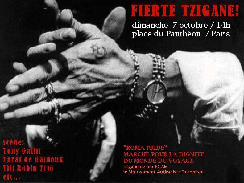 Tony Gatlif et Titi Robin sur scène pour la Roma Pride dimanche
