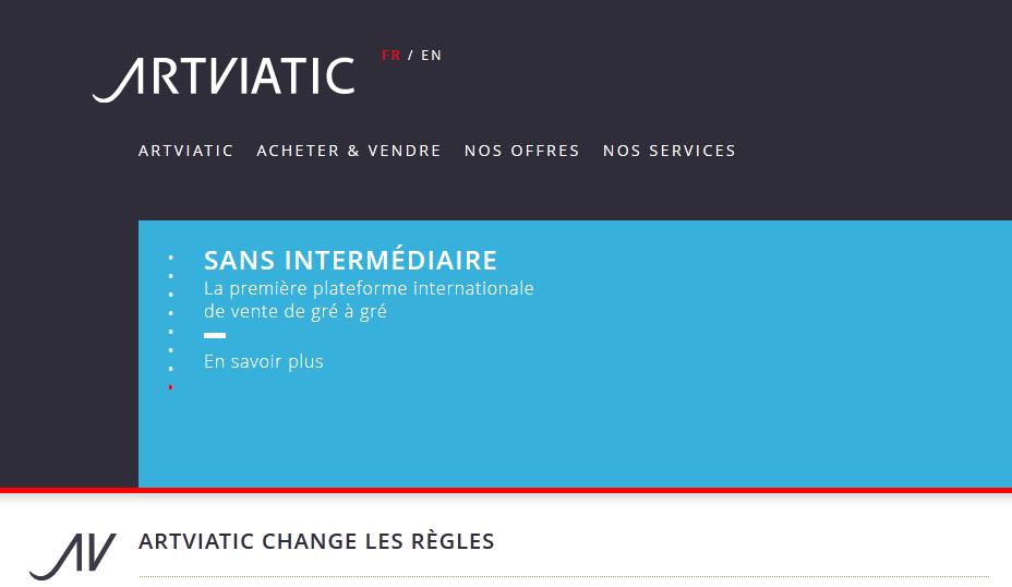 Lancement d'Artviatic, la plateforme web pour l'achat et la vente de tableaux de grands maîtres