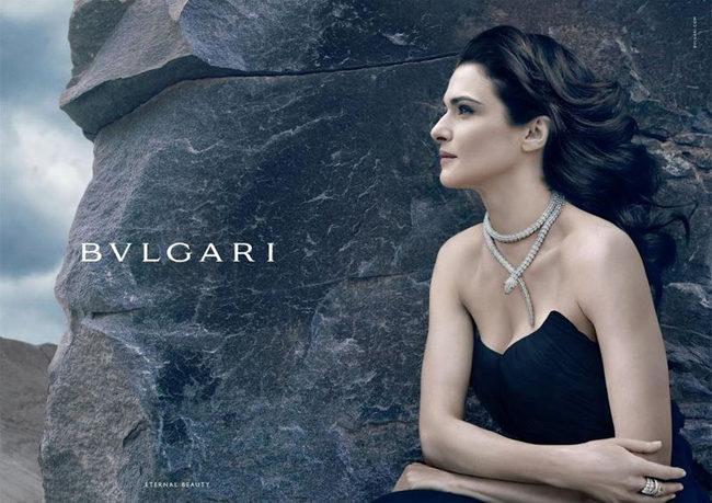 Rachel Weisz égérie d'une ligne de bijoux Bulgari