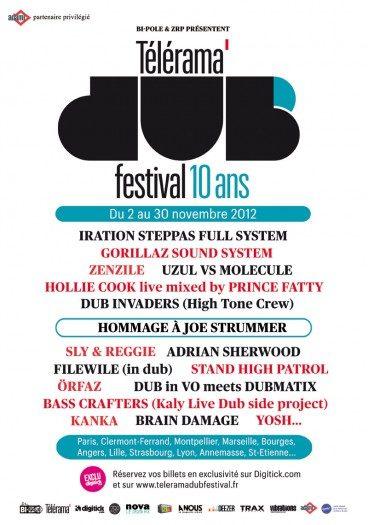 Le Télérama Dub Festival 2012, toute la programmation à Paris les 23 et 24 novembre