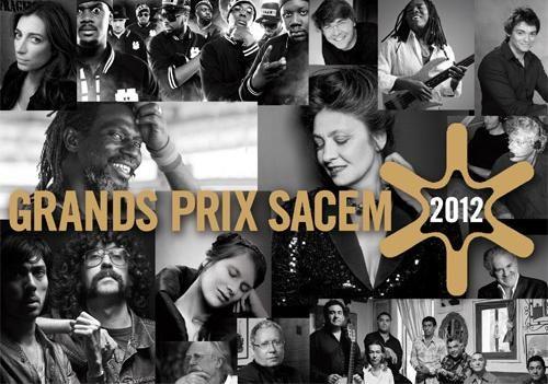 Les grands prix Sacem 2012 : le Palmarès