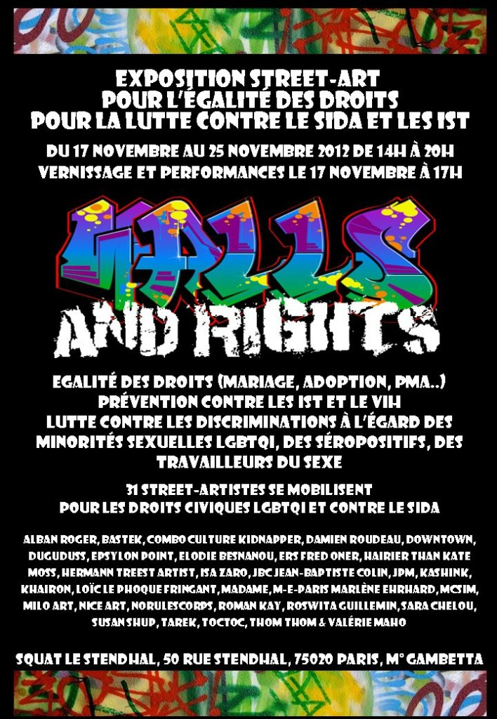 L'expo Walls And Rights, militante et humaniste, du 17 au 25 novembre