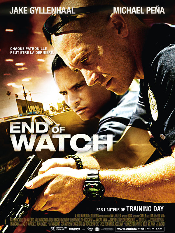 Critique: End of watch, film d'action pseudo réaliste benêt à la gloire de la police de LA
