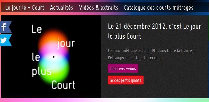 Le 21 décembre lors du jour le plus court, le court-métrage est à l'honneur dans toute la France
