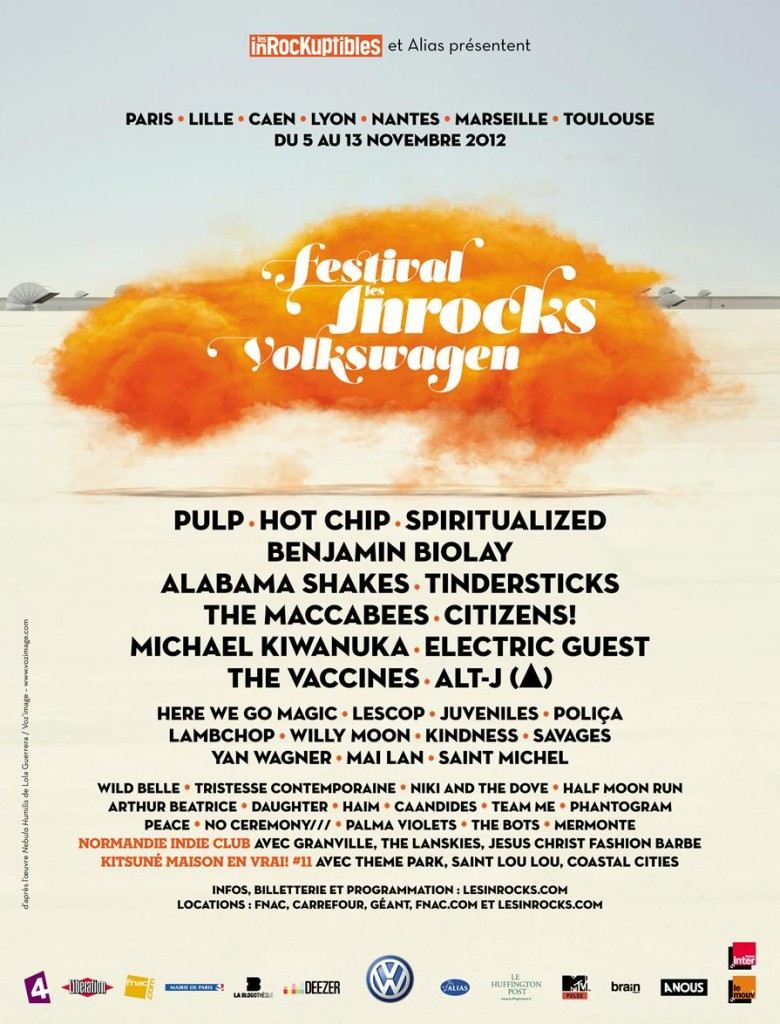 [Live Report] : Festival des Inrocks le 6 novembre – Andy Burrows, Half Moon Run, Here We Go Magic.