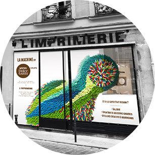 La machine culte de Nescafé s'expose dans le quartier de Beaubourg