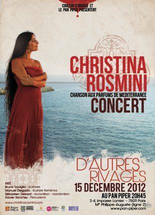 Gagnez 10 places pour le concert de Christina Rosmini le 15 décembre au Pan Piper