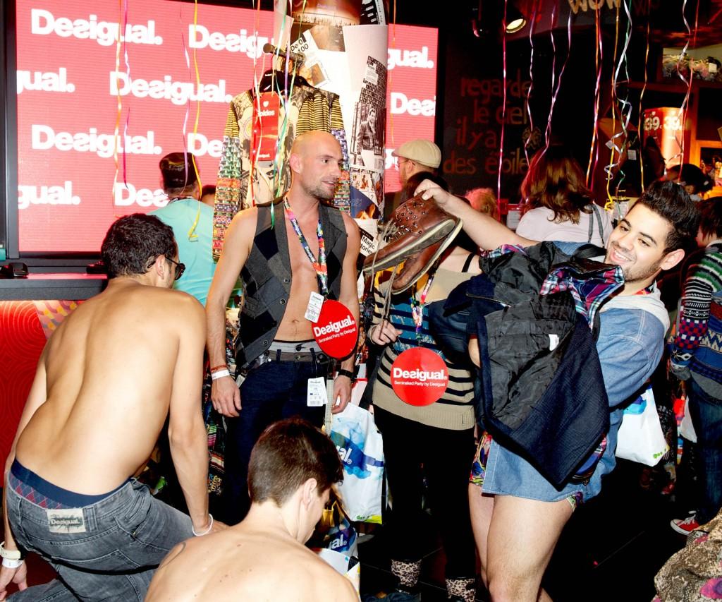 Live-Report : La seminaked party de Desigual, un festin nu pour les fashionistos (09/01/2013)