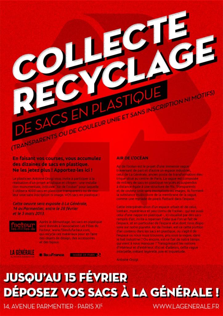 Appel à collecte : le plasticien Antoine Onzgi recycle vos sacs en plastique