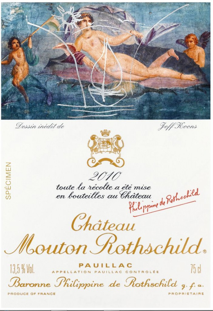 Jeff Koons «Dessine moi un Mouton-Rothschild»