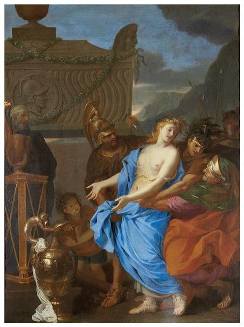 «Le sacrifice de Polyxène» un tableau de Le Brun découvert au Ritz.