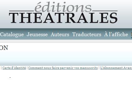 Editions Théâtrales