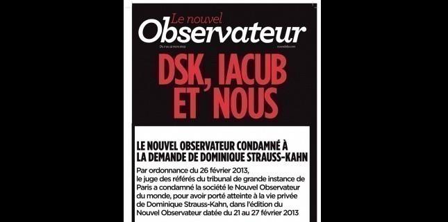 Le Nouvel Obs ne fera finalement pas appel dans l'affaire DSK/Iacub