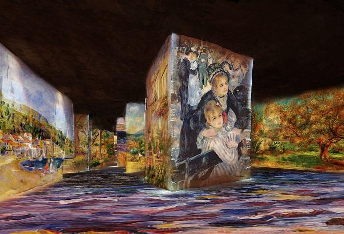 Les Carrières de Lumières des Baux de Provence revêtent les couleurs de Monet, Renoir ou encore ...