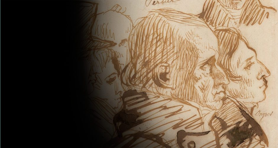« David d'Angers, dessins des musées d'Angers au Louvre » : études préparatoires du sculpteur des grands hommes de la République