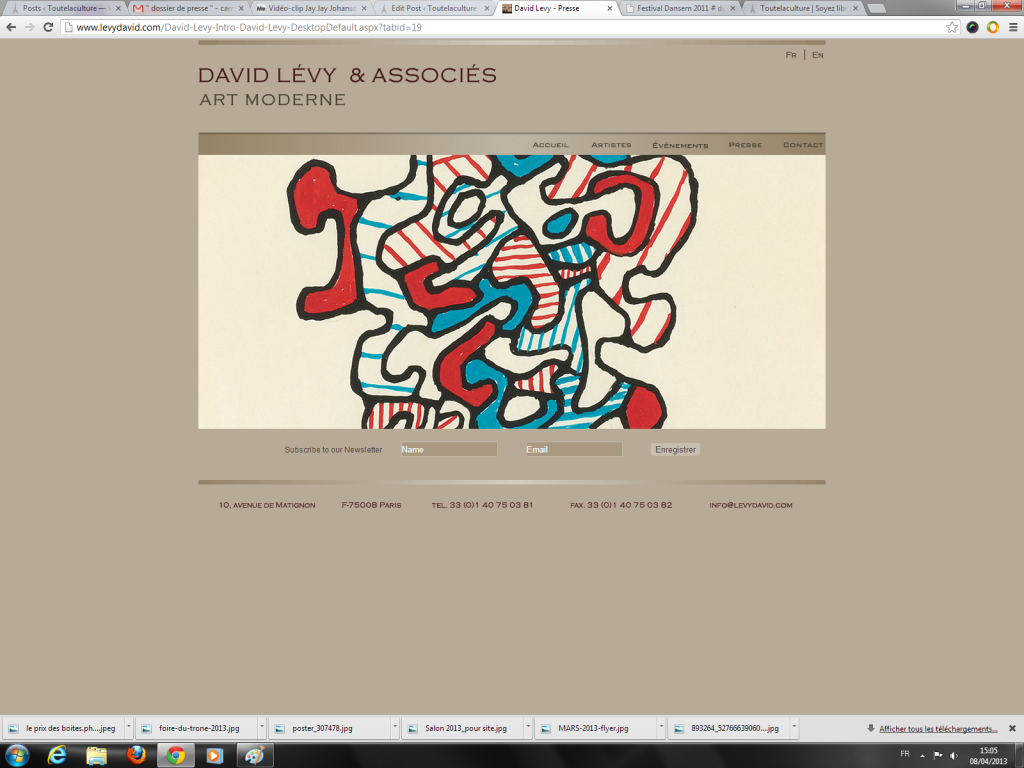 DAVID LEVY et ASSOCIES ART MODERNE