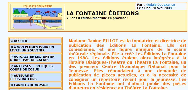 Editions la Fontaine