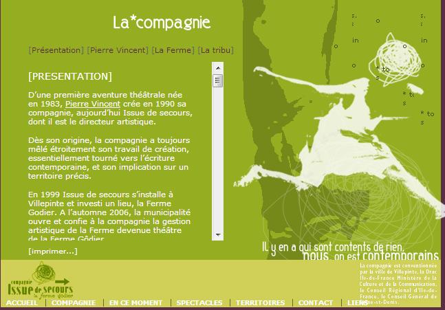 Issue de secours-Compagnie Pierre Vincent