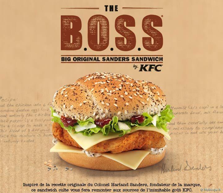 B.O.S.S le nouveau sandwich de KFC