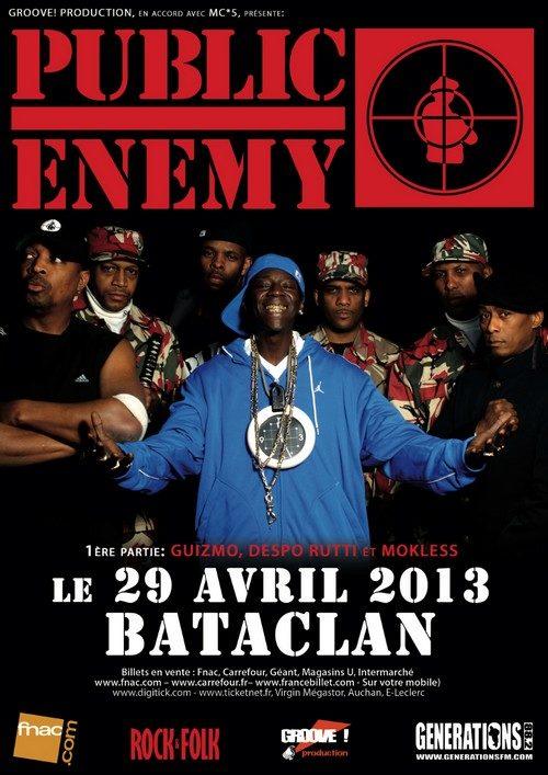 Public Enemy en tournée européenne, le 29 Avril au Bataclan à Paris