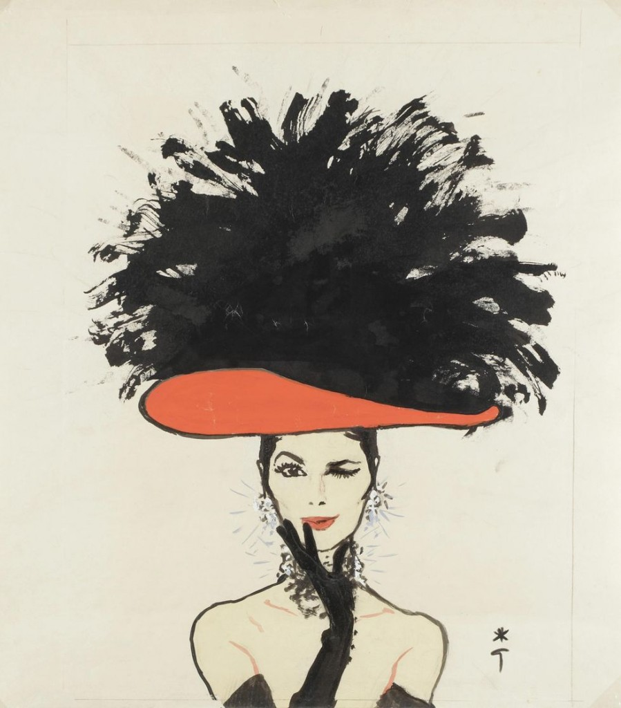 De fabuleux dessins de mode s'offrent aux enchères de Drouot aujourd'hui