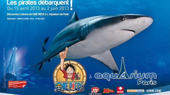 Exposition One Piece à l'aquarium de Paris : L'équipage du chapeau de paille à l'abordage de cinéaqua
