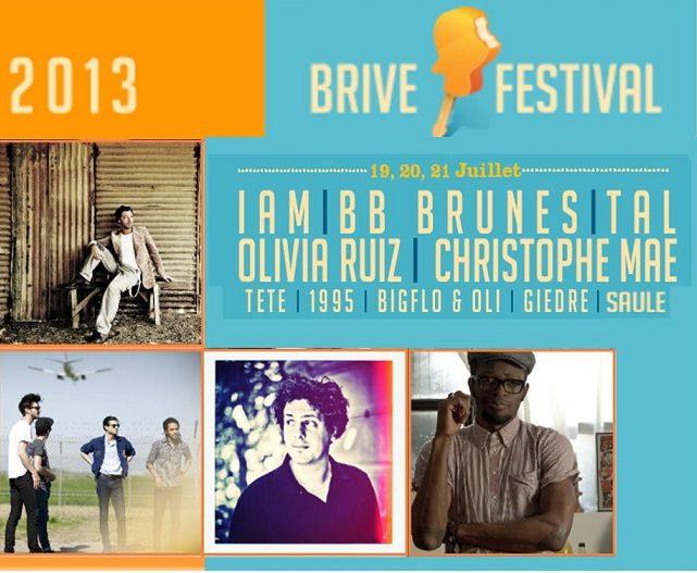 IAM, BB Brunes, Olivia Ruiz et Christophe Maé à l'affiche du Brive Festival