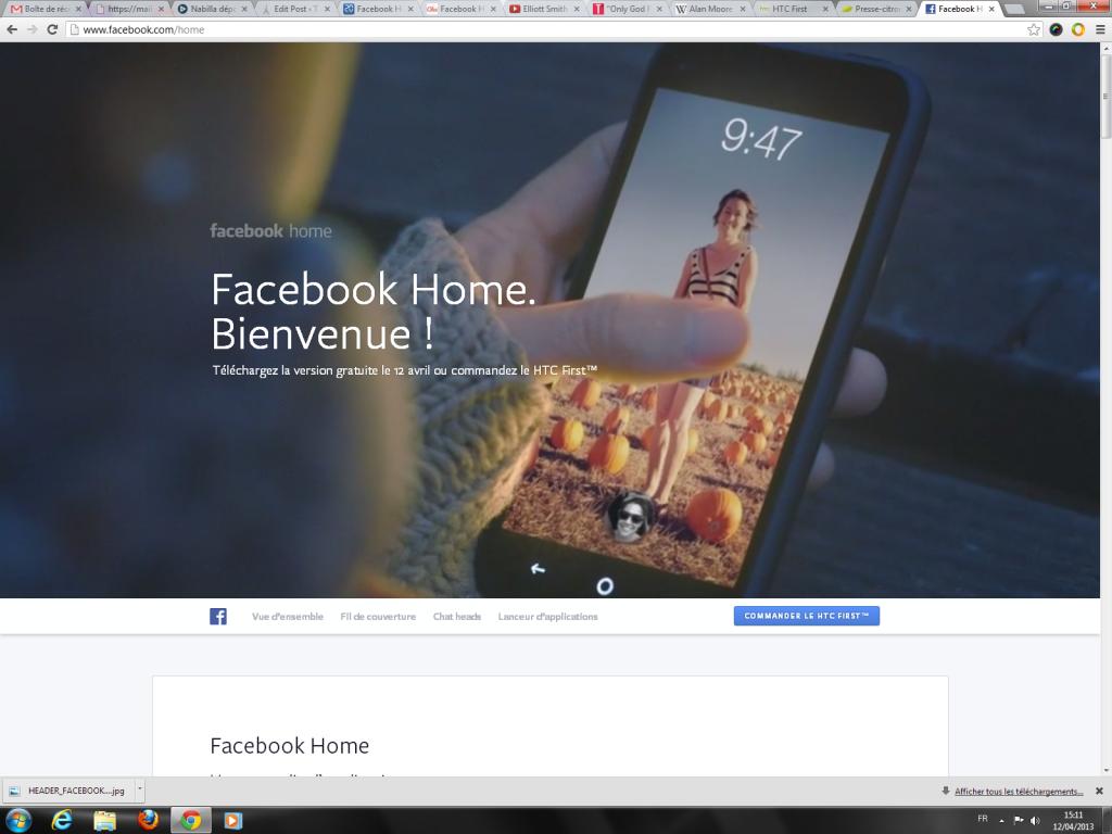 Facebook en home de votre smartphone : c'est aujourd'hui que ça commence